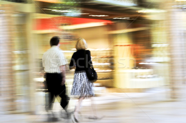 Shopping in a mall Stock photo © elenaphoto
