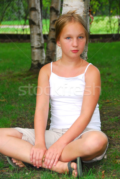 Stock photo: Young girl portrait