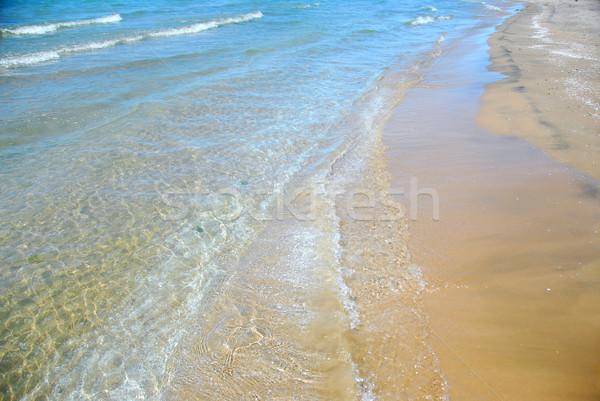 Spiaggia onda sabbia onde spiaggia di sabbia primo piano Foto d'archivio © elenaphoto