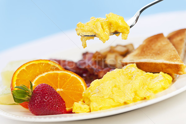 Breakfast plate with fork Stock photo © elenaphoto