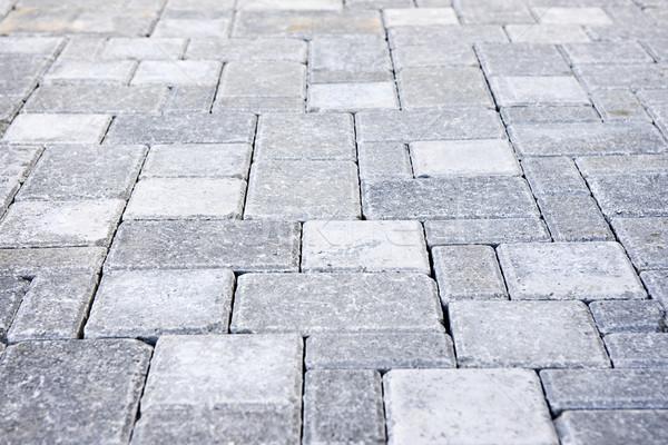 Stockfoto: Steen · pad · grijs · bouw · home · baksteen