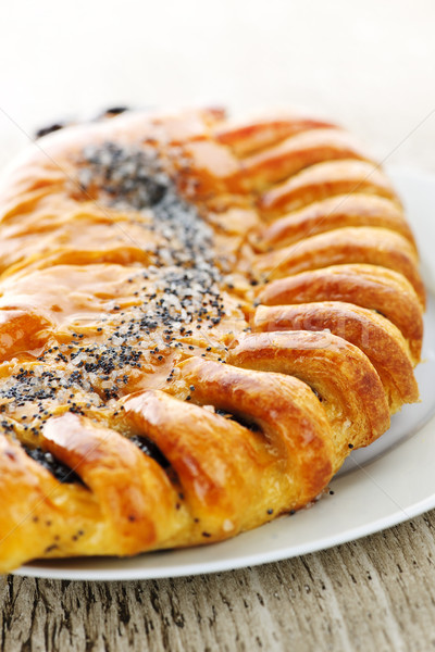 Poppy seed strudel Stock photo © elenaphoto