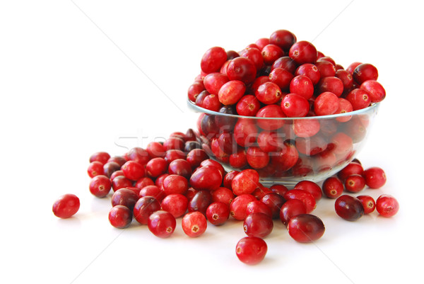 Cranberries in a bowl Stock photo © elenaphoto