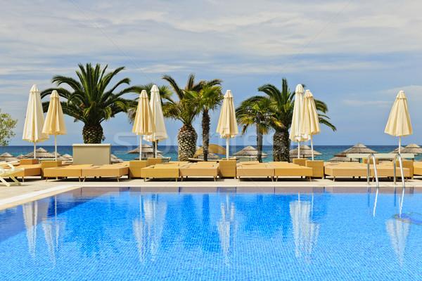 Foto stock: Piscina · tropicales · Resort · idílico · piscina · palmeras