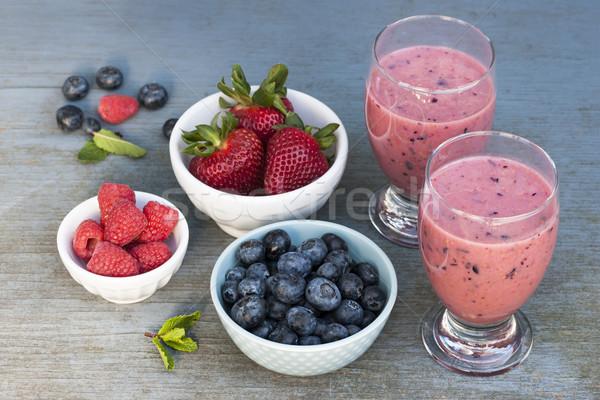 Berry smoothies Stock photo © elenaphoto