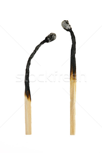 Two burnt out matches Stock photo © elenaphoto