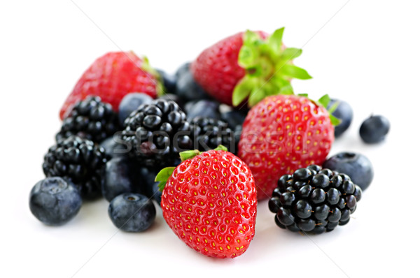 Assorted fresh berries Stock photo © elenaphoto