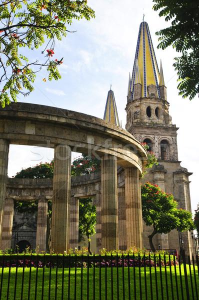 Rotunda of Illustrious Jalisciences and Guadalajara Cathedral in Jalisco, Mexico Stock photo © elenaphoto