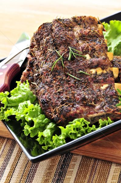 Spare rib dinner Stock photo © elenaphoto