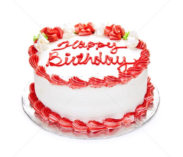 Birthday cake Stock photo © elenaphoto