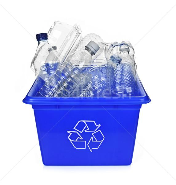 Recycling blue box Stock photo © elenaphoto