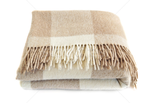 Cozy alpaca wool blanket Stock photo © elenaphoto