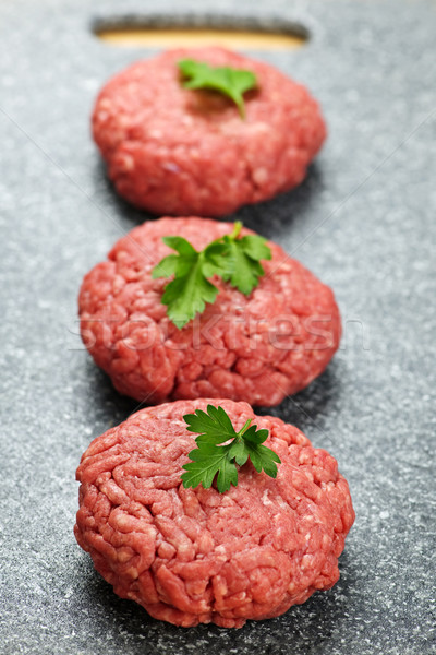 Hamburger patties Stock photo © elenaphoto