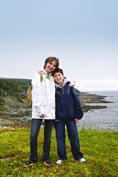 Zdjęcia stock: Dzieci · stałego · wybrzeża · nowa · fundlandia · uśmiechnięty