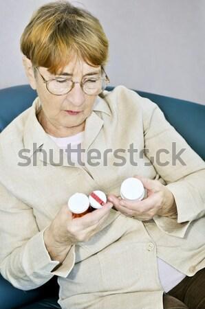 Stockfoto: Appel · gezond · eten · voedzaam · vrouw