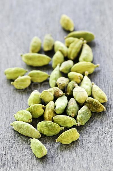 Kardemom zaad verscheidene geheel groene textuur Stockfoto © elenaphoto