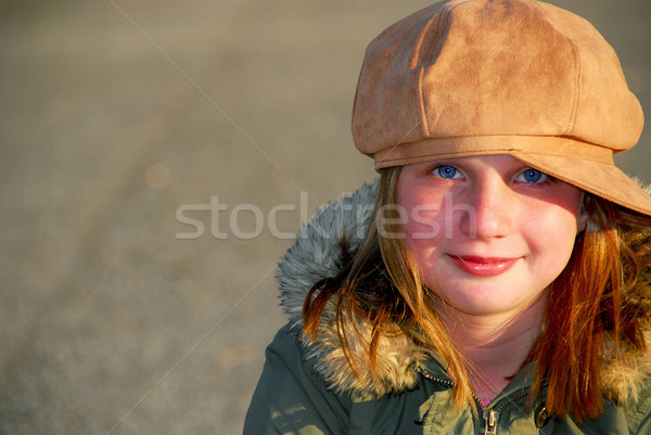 Stock photo: Girl winter hat