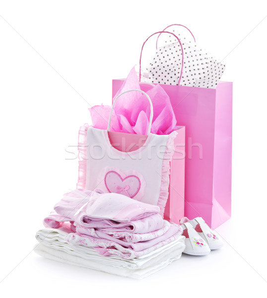 Pink baby shower presents Stock photo © elenaphoto