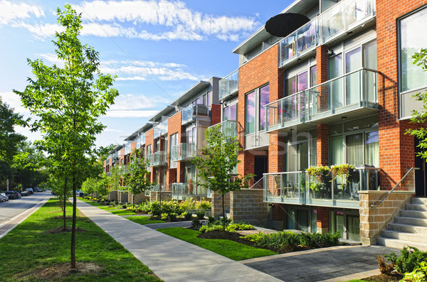 Modern town houses Stock photo © elenaphoto