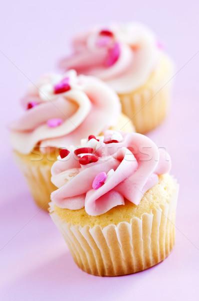 Rij smakelijk icing voedsel hart Stockfoto © elenaphoto