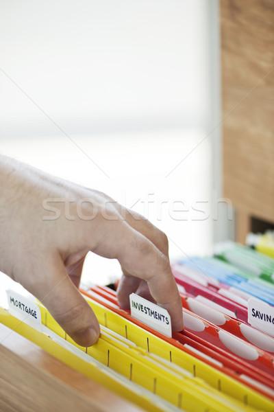 Financial documents in folders Stock photo © elenaphoto