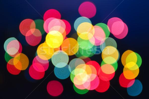 Blurred Christmas lights Stock photo © elenaphoto
