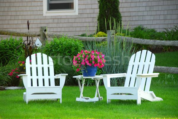 Two lawn chairs Stock photo © elenaphoto