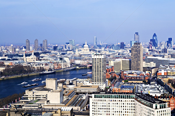 Cityscape from London Eye Stock photo © elenaphoto