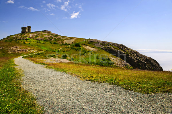Long path to Cabot Tower on Signal Hill Stock photo © elenaphoto