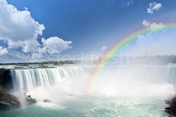Rainbows Chutes Niagara spectaculaire côté nature cascade Photo stock © elenaphoto