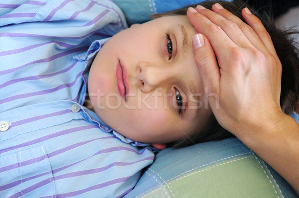 Sick child Stock photo © elenaphoto