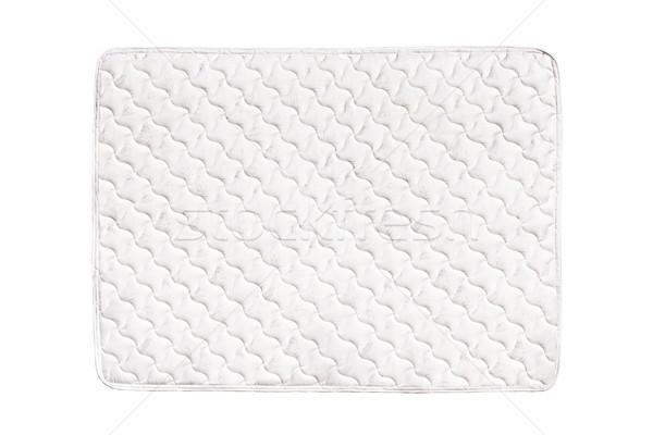 Fehér matrac puha kényelmes izolált háttér Stock fotó © elenaphoto