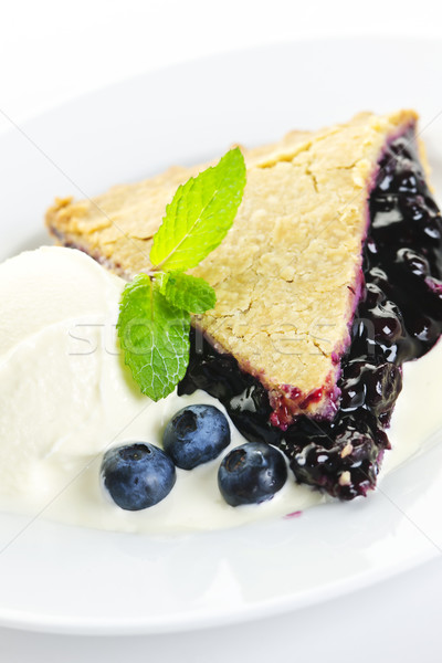 Blueberry pie slice Stock photo © elenaphoto