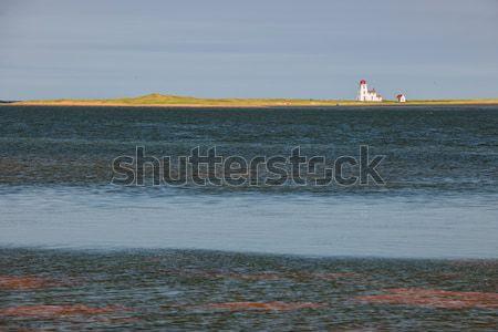 Manzara deniz feneri prince edward adası okyanus Kanada doğa Stok fotoğraf © elenaphoto