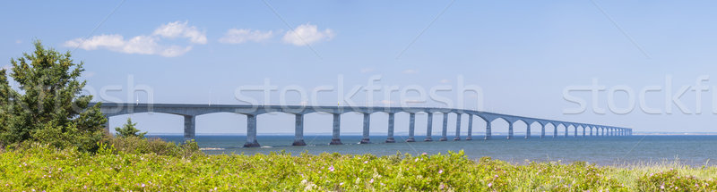 Foto stock: Puente · panorama · isla · del · príncipe · eduardo · nuevos · costa · Canadá