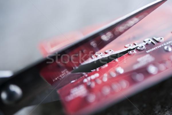 Cut credit card Stock photo © elenaphoto