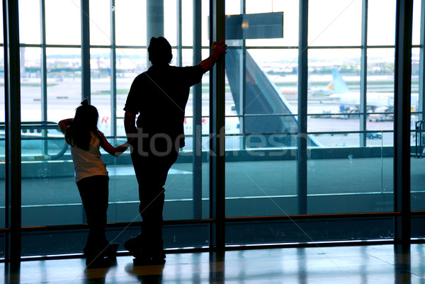 Family airport Stock photo © elenaphoto