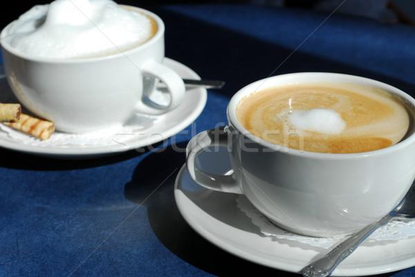 Coppe caffè tavola relax colazione Foto d'archivio © elenaphoto