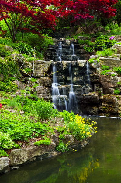 Cascading waterfall and pond Stock photo © elenaphoto