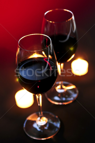 Wineglasses Stock photo © elenaphoto