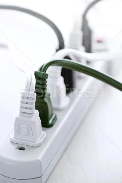 Stok fotoğraf: Telleri · güç · bar · çok · elektrik · teknoloji