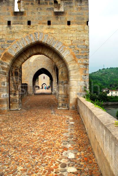 Köprü Fransa ortaçağ güneybatı seyahat taş Stok fotoğraf © elenaphoto