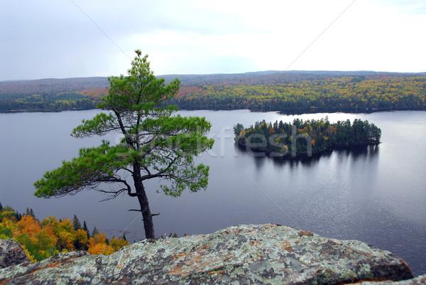 Lake scenery Stock photo © elenaphoto