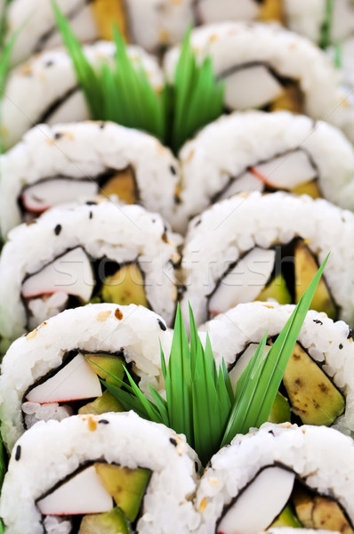 Photo stock: Sushis · plateau · alimentaire · asian