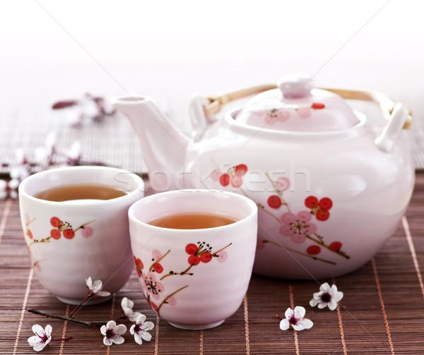 Green tea set Stock photo © elenaphoto