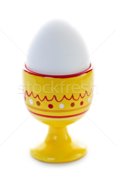 Boiled egg in cup Stock photo © elenaphoto