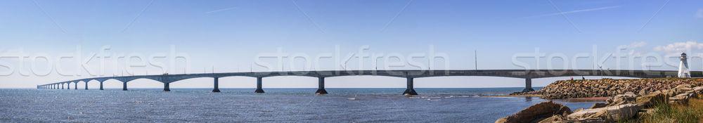 Ponte panorama Canadá panorâmico ver farol Foto stock © elenaphoto