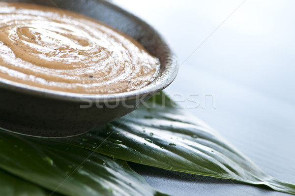 Green tea scrub Stock photo © elenaphoto