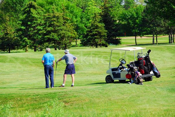 Seniors golfing Stock photo © elenaphoto