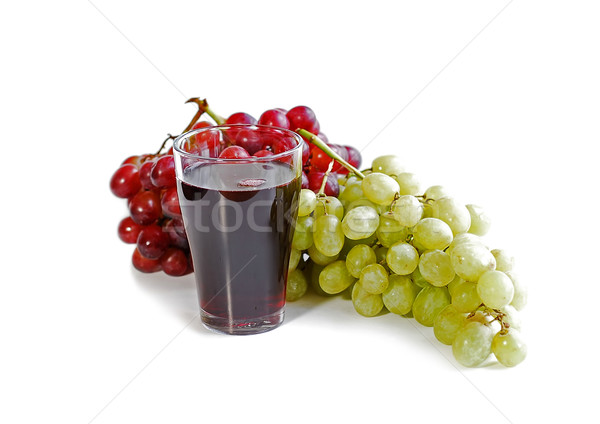 Grapes and juice Stock photo © elenaphoto